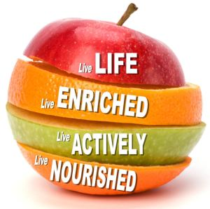 LiveLeanLifestyle logo - apple only